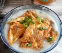 榨菜煎蛋配白粥
