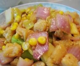杂菜炒龙利鱼柳