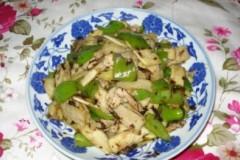 橄榄菜炒茭白