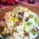 咸肉蚕豆焖饭