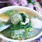 荠菜丸子豆腐汤