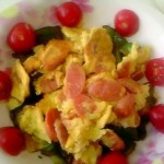 柿子椒炒火腿鸡蛋