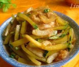 酱香南瓜炒肉丝