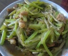 芹菜炒水晶粉