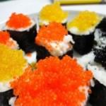 三文鱼蟹籽寿司