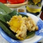 咸蛋黄玉米粽