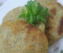 绿豆肉糜饼