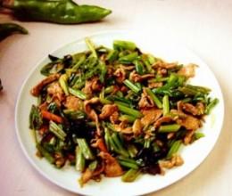 蚝油芹菜小辣椒