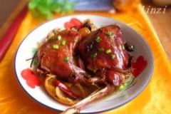 焦山楂陈皮蚝油卤熏兔