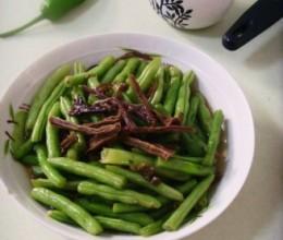 干菜炒四季豆