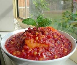 红曲米红薯粥