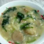 菠菜魚丸疙瘩湯