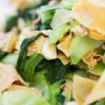 油菜瘦肉干豆腐