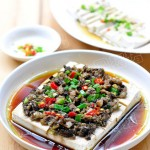 榄菜肉末蒸豆腐