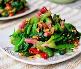 花生拌红根菠菜