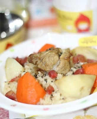 红萝卜土豆排骨饭