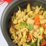 彩椒炒花椰菜
