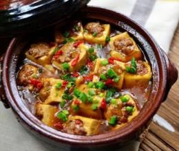 砂锅煲豆腐酿