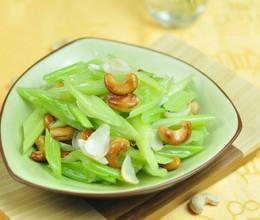 腰果百合炒芹菜