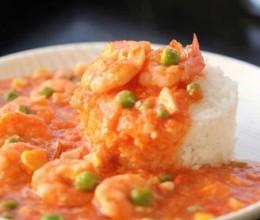 番茄鲜虾饭