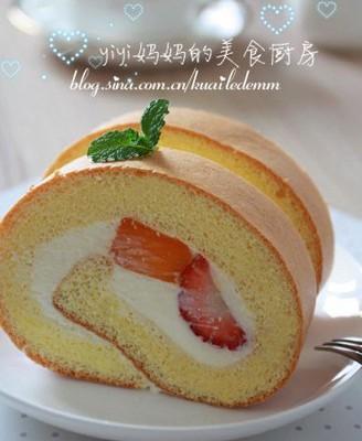 鲜果蛋糕卷