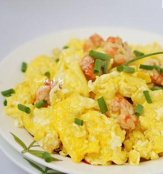 北极虾仁炒鸡蛋