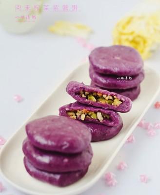 肉末榨菜紫薯饼