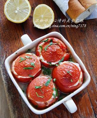 奶酪香烤番茄盅
