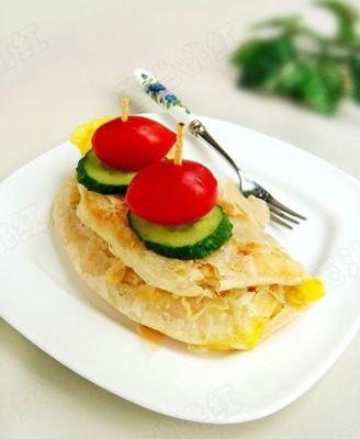 肉松鸡蛋灌饼