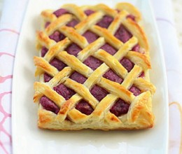 酥皮紫薯派