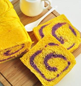 南瓜紫薯吐司