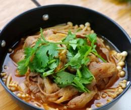 韩式肥牛金针煲