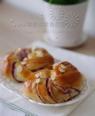 紫薯卷面包