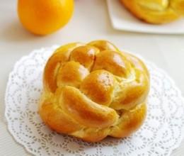 橙香编花小面包