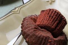红曲戚风纸杯蛋糕
