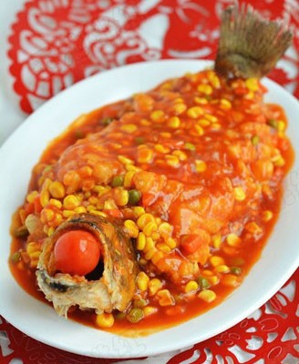 糖醋松鼠鲈鱼