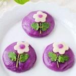 花朵紫薯饼