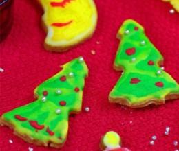 糖霜装饰圣诞饼干