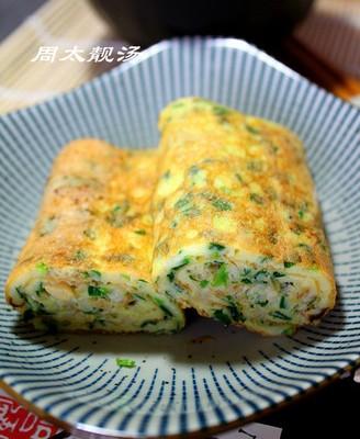 韭菜蚬肉厚蛋烧