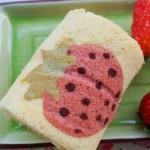 彩绘草莓蛋糕卷