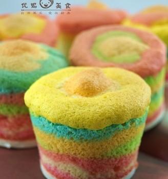 彩虹蛋糕杯