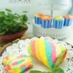 梦幻彩虹蛋糕卷