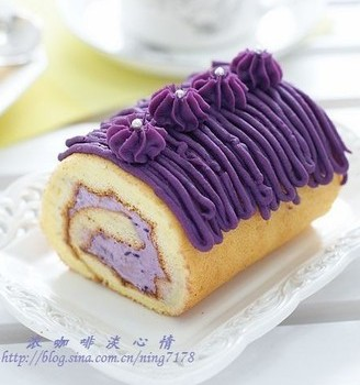 紫薯蛋糕卷