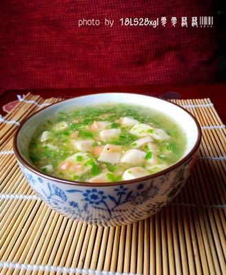 青菜火腿豆腐羹