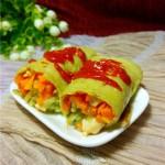 黄瓜鸡肉卷