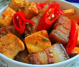 豆腐干烧腊肉