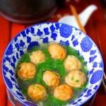 鳕鱼油面筋汤