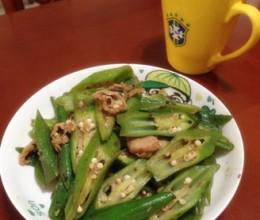 肉炒黄秋葵