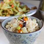 杂菜糙米饭