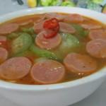 肉花肠丝瓜汤